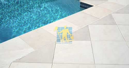 outdoor sandstone tile pool sno white