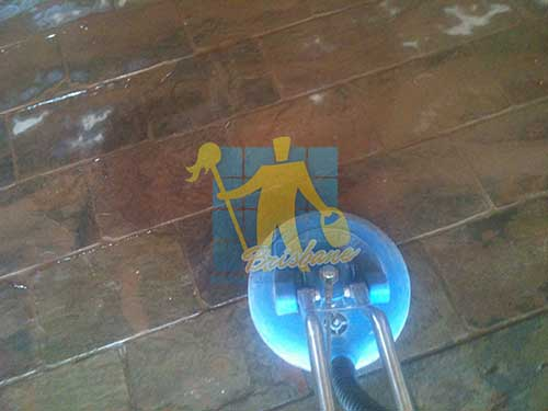 Slate Floor Scrubbing Stripping