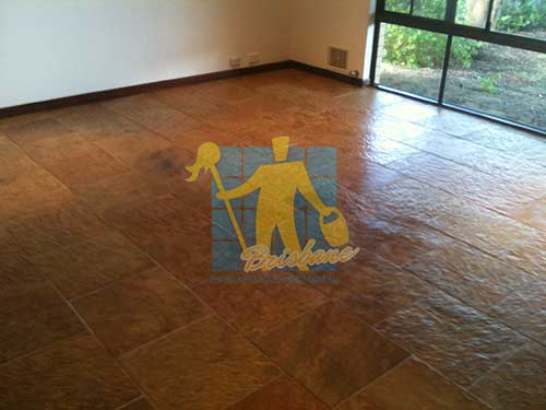 slate tiles in room sealed with impregnating waterbased slate sealer no shine