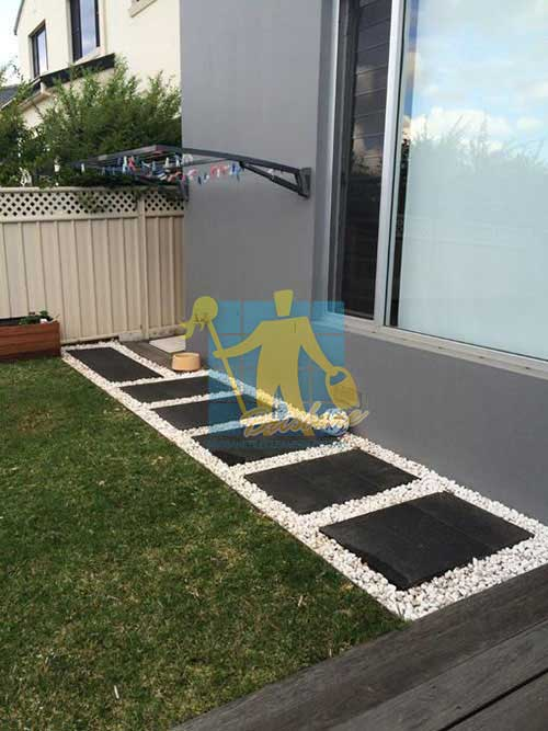 Brisbane outdoor cleaned bluestone tiles