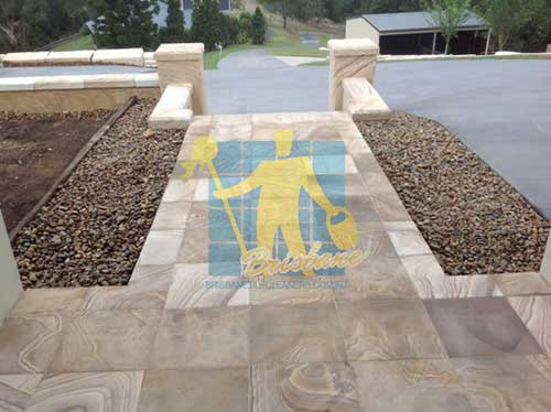 Brisbane outdoor travertine floor after cleaning