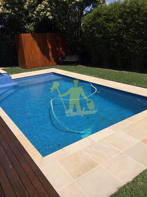 Brisbane professional cleaned sandstone around pool