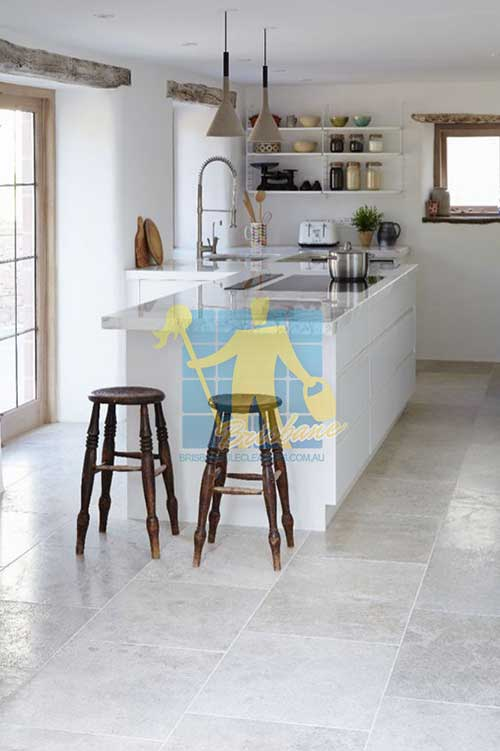 kitchen Grey shiny polished Limestone floor