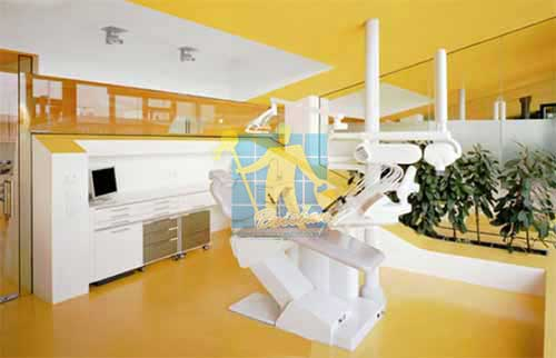 dental clinic yellow vinyl floor