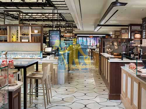 Brisbane food hall with ceramic floor