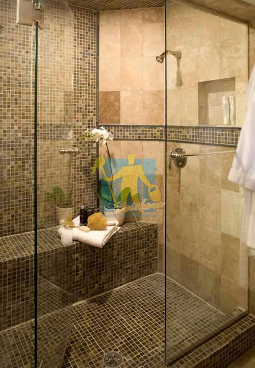 travertine home shower