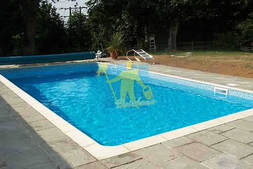 travertine outdoor pool