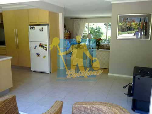 porcelain tiles floor inside furnished home after cleaning