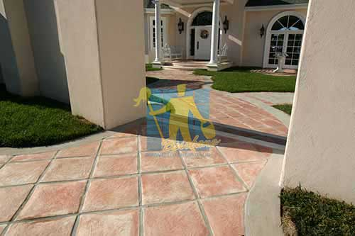 Outdoor Tarracotta Tiles Cement Grout