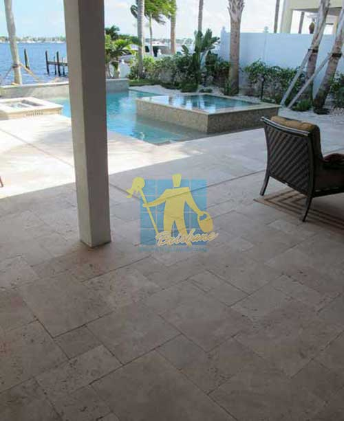Polished Travertine Stone Tile Sample Sealer Brisbane